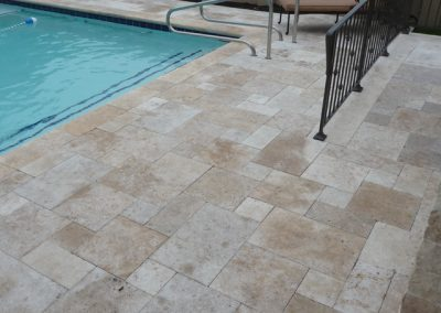 french pattern travertine classic outdoor tiles
