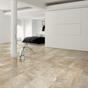noce travertine filled and honed indoor tiles
