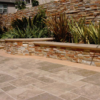 noce unfilled and tumbled travertine pavers outdoors french pattern