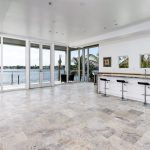 silver filled and honed kitchen travertine floor tiles