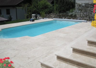 travertine pool tiles NON SLIP