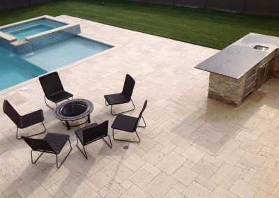 travertine outdoor tiles vein cut non slip surface