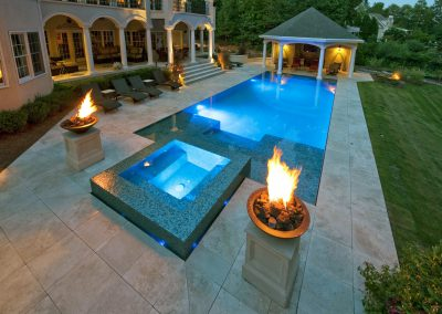 ivory travertine unfilled and tumbled pavers and pool coping tiles