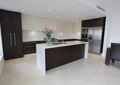 capri white limestone filled and honed kitchen tiles