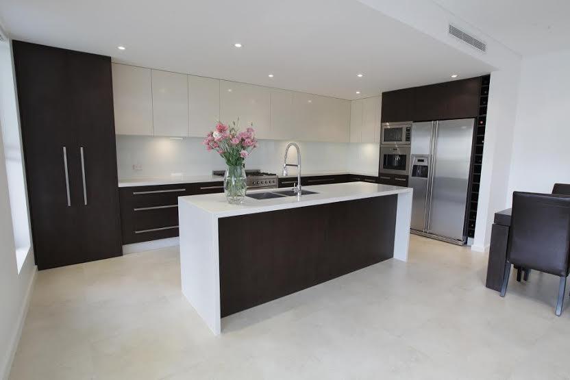 White Travertine kitchen tiles