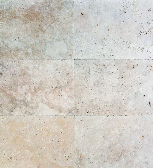 Ivory Travertine Tiles unfilled and tumbled