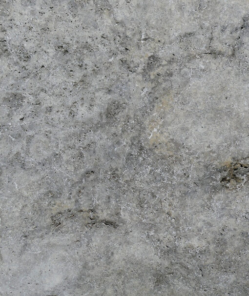 Silver travertine tiles and pavers