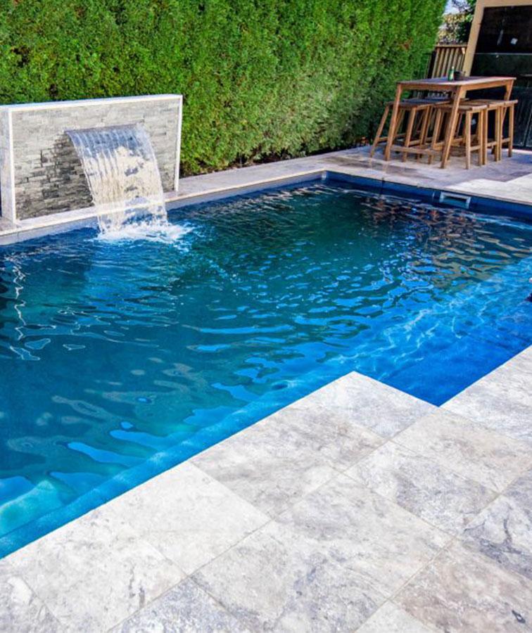 Travertine Pool coping silver travertine pavers melbourne