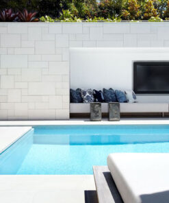 White tiles french pattern pavers melbourne