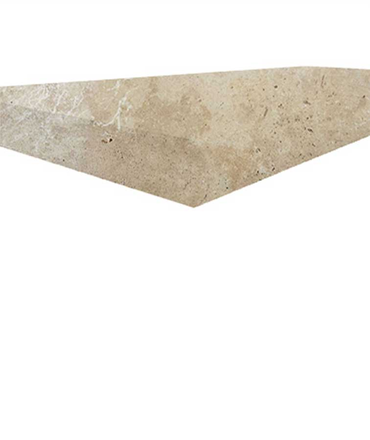 Ivory travertine tiles, pavers and pool coping tiles