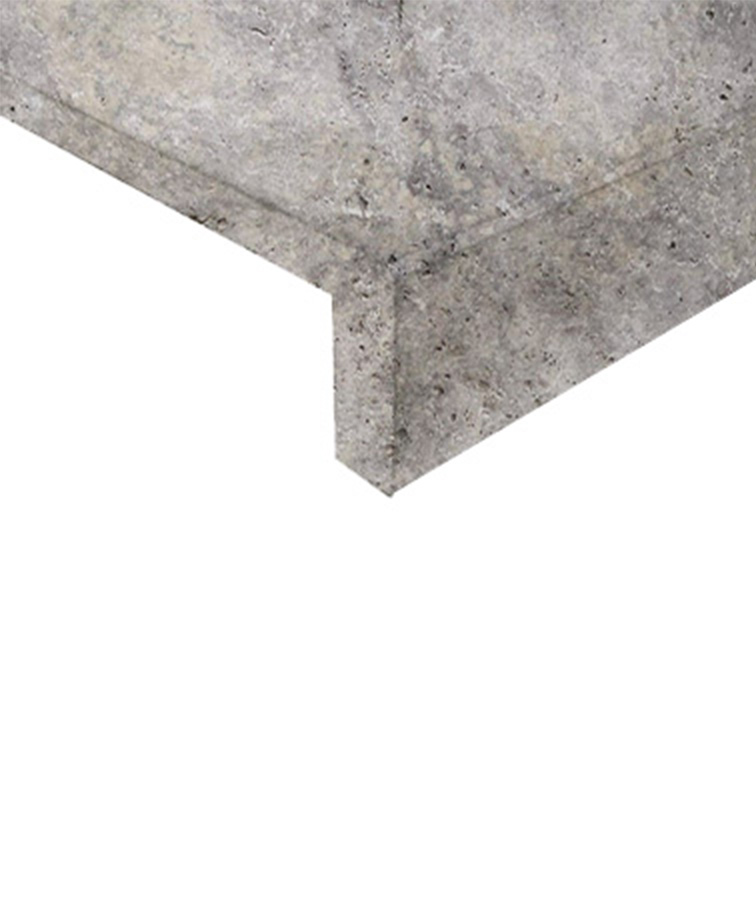 silver travertine pool coping tiles and pavers
