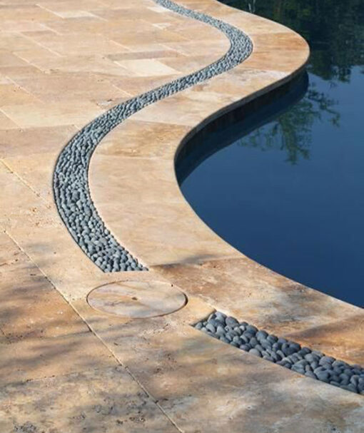 travertine drop face pool coping tiles and pavers