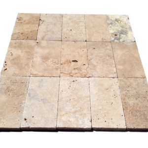 Antique Travertine Pavers unfilled and tumbled