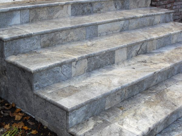 Cheap Silver Travertine Tiles step treads