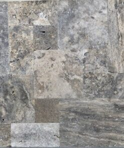 Oyster Travertine Tiles Unfilled and tumbled french pattern