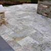 Cheap Silver Travertine Tiles french pattern unfilled and tumbled