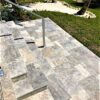 Cheap Silver Travertine Tiles french pattern step treads