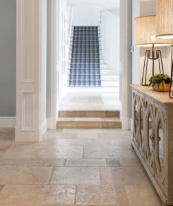 Ivory Travertine pavers and indoor tiles.