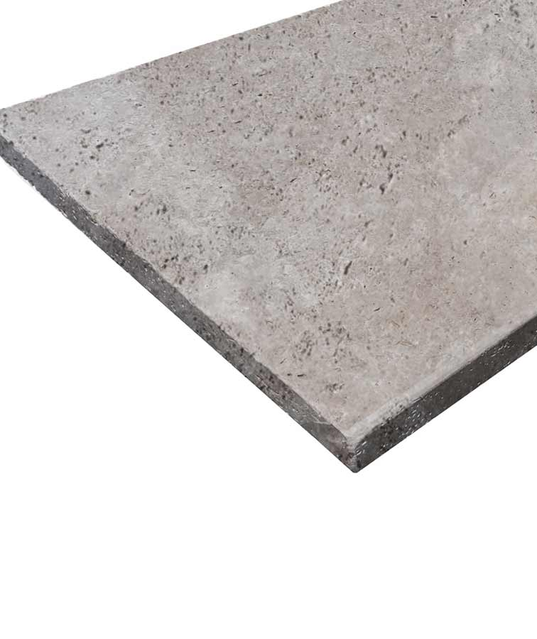 Silver travertine pool coping tiles from Melbourne