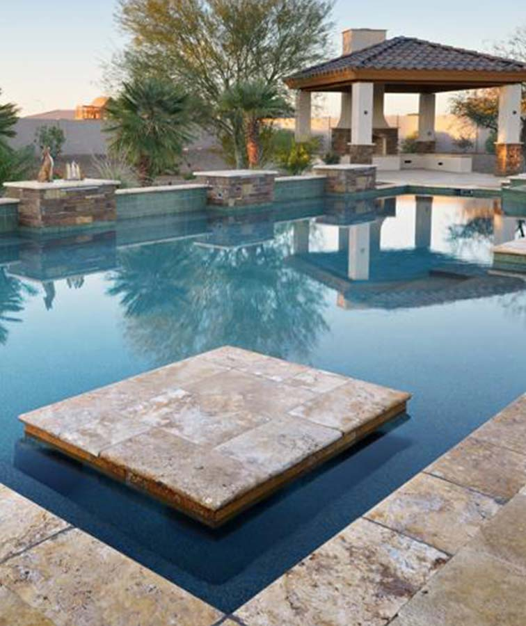 Melbourne pool coping and travertine tiles