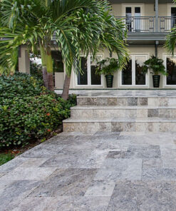 travertine tiles silver pavers floor tiling