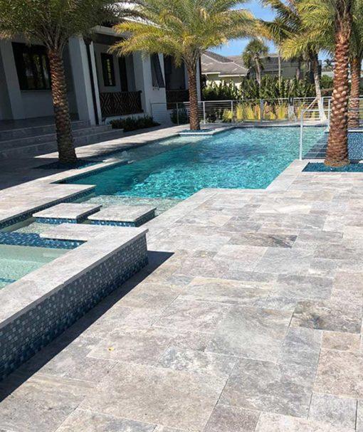 silver travertine tiles cheap pavers melbourne