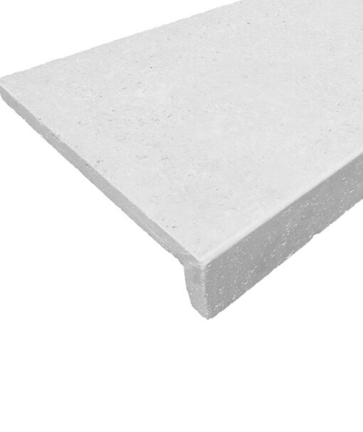 White drop down pool coping tiles rebate pavers