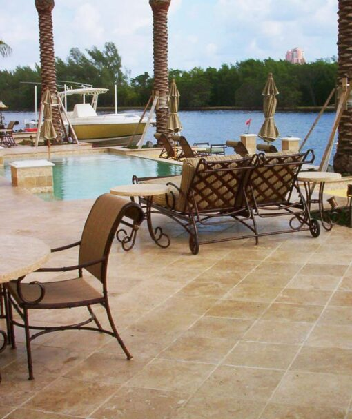 Travertine tiles cheap pavers brown