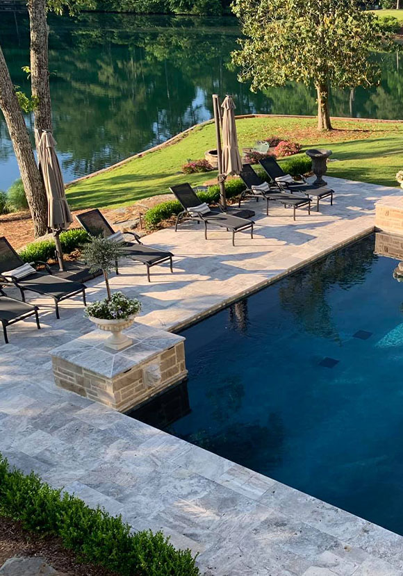 Cheap pavers travertine tiles pool coping sydney