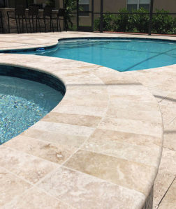 Travertine pavers pool coping bullnose tiles