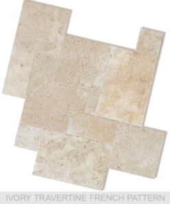 Melbourne travertine tiles french pattern pavers