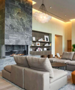 Fireplace tiles grey pavers indoor tiling Melbourne