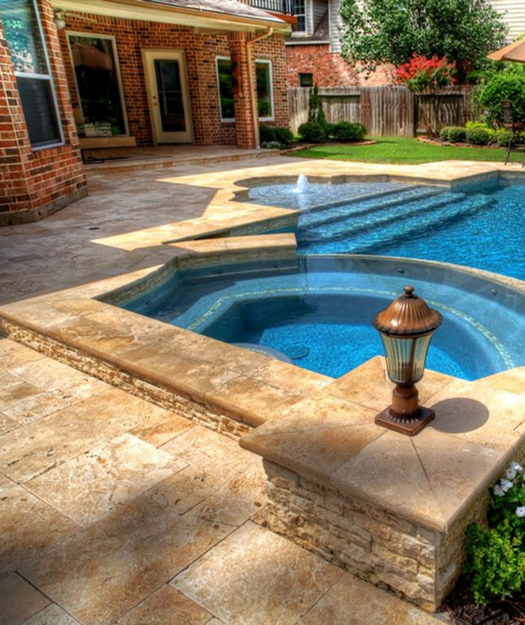 bullnose tiles and travertine pavers for pool coping tiles