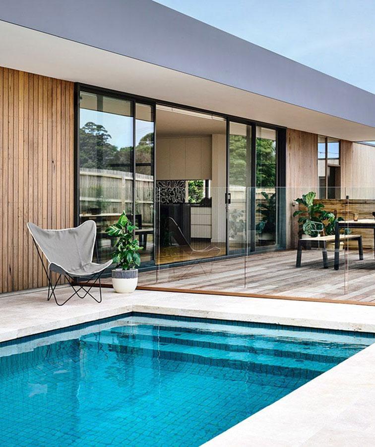 Drop face pool coping travertine stone tiles