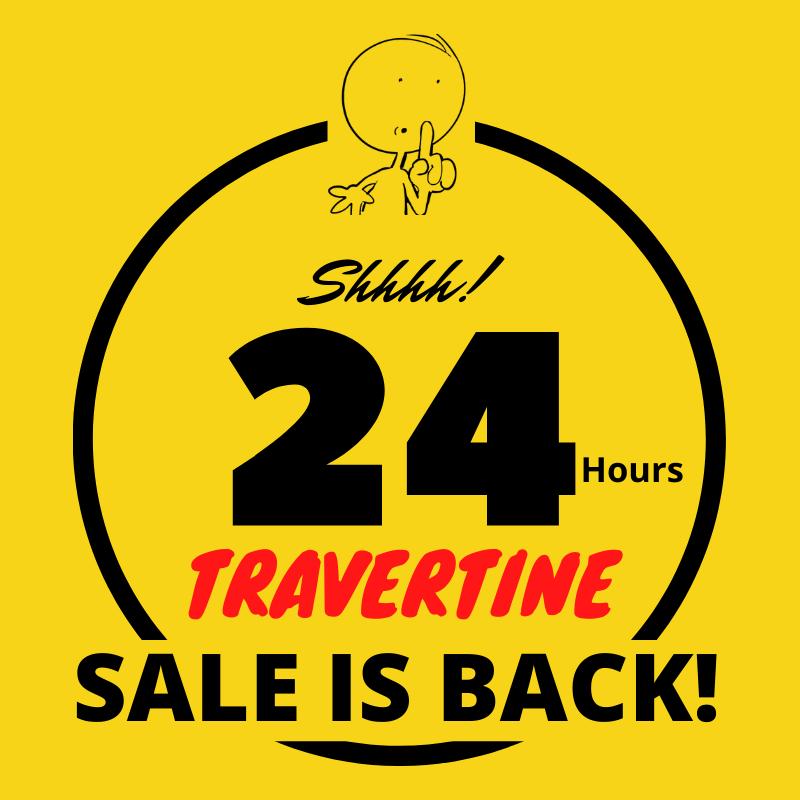 travertine tile sale is back banner