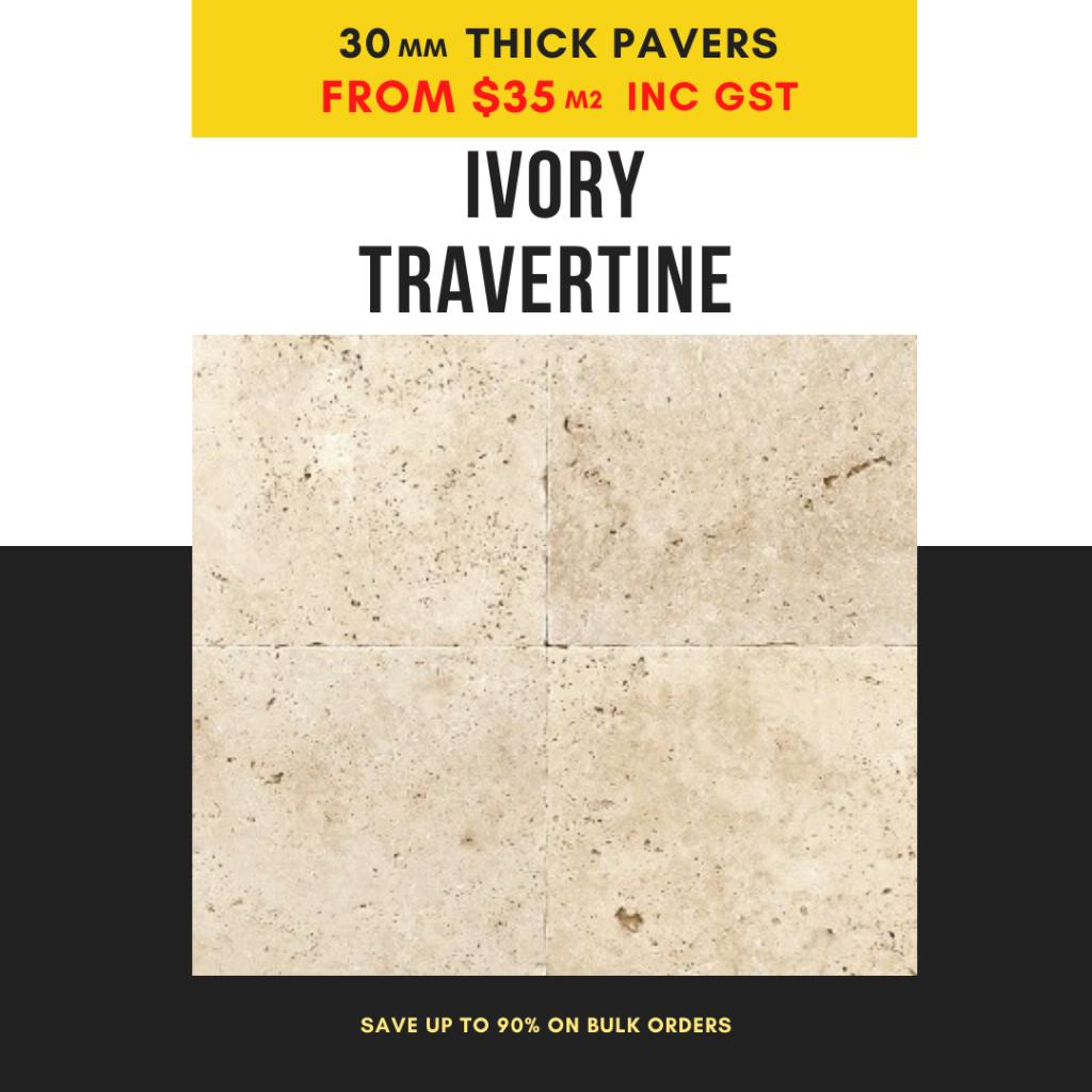 ivory travertine 30mm